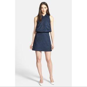 NWOT Theory 'Gemine' Tiered Twill A-Line Dress